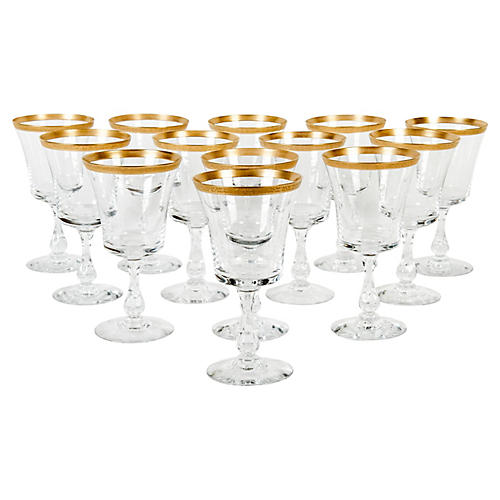 Crystal Wineglasses, S/13