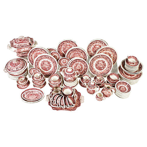 Red Mason's English Chinaware, 98-Pcs