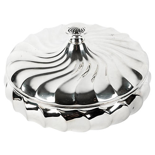 English Silver-Plated Covered Dish
