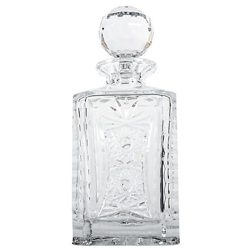 Etched Cut Crystal Decanter