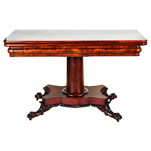 Antique Mahogany Folding Table