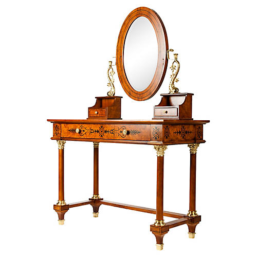 Spanish Brass Mounted Vanity