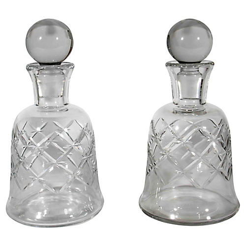 Antique Baccarat Crystal Decanters, S/2