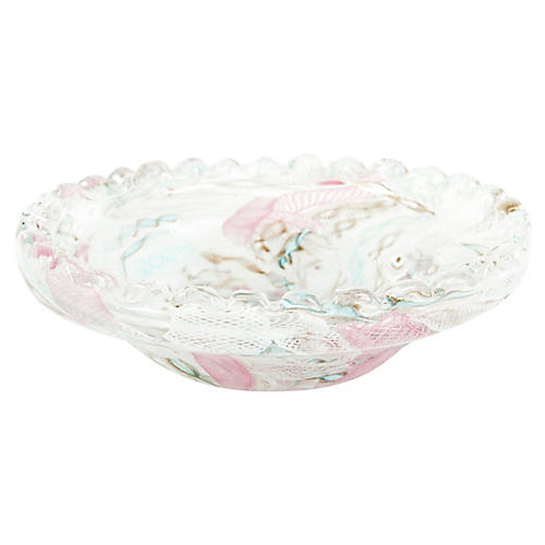 Murano Glass Floral Bowl