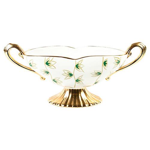 English Porcelain Deco Dish