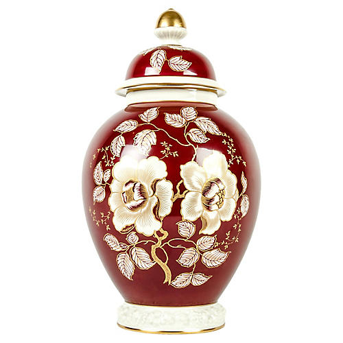 Porcelain Covered Deco Urn
