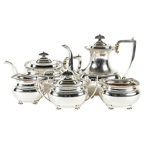 Sterling Silver Coffee Set, 5 Pcs