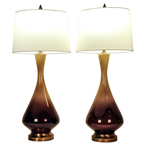 S/2 Porcelain Table Lamps