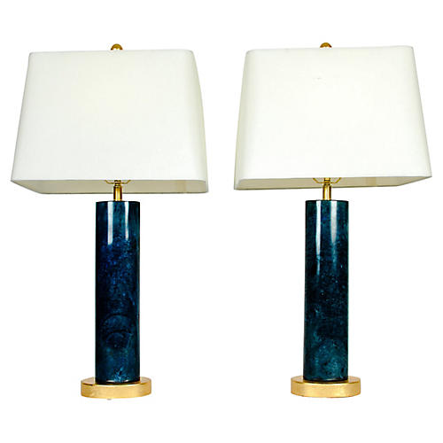 Slim Jade Lamps