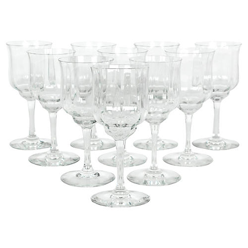 Baccarat Wineglasses, S/10