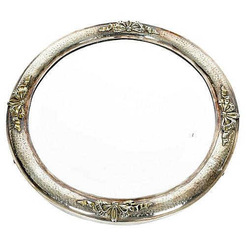 Silver-Plate Mirrored Plateau