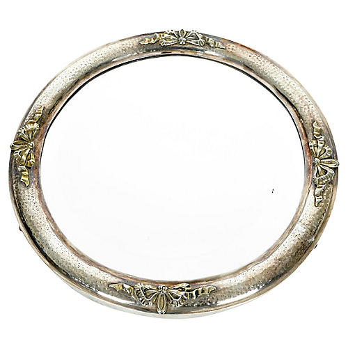 Silver-Plate Mirrored Plateau