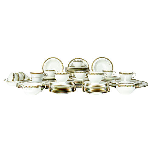 Wedgwood Porcelain Dinner Service, 50-pc