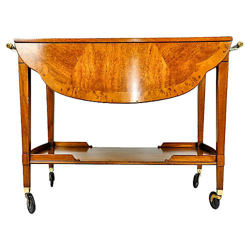 1960s Satinwood & Mahogany Bar Cart