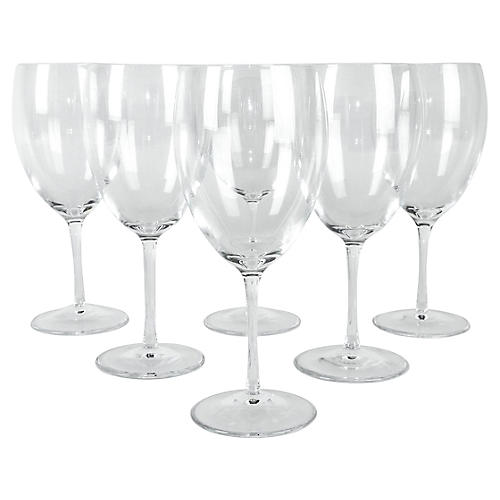 French Crystal Wineglasses, S/6