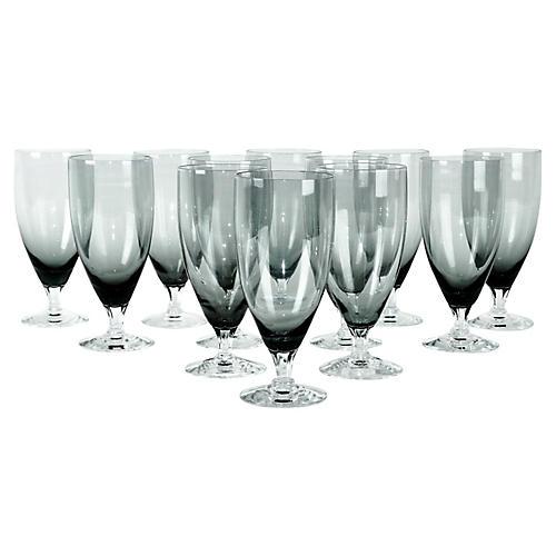 Smoke Crystal Juice Glasses, s/12