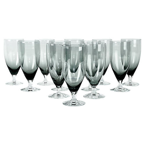 Smoke Crystal Juice Glasses, s/12