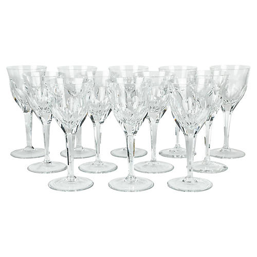 Baccarat Crystal Wineglasses, S/12
