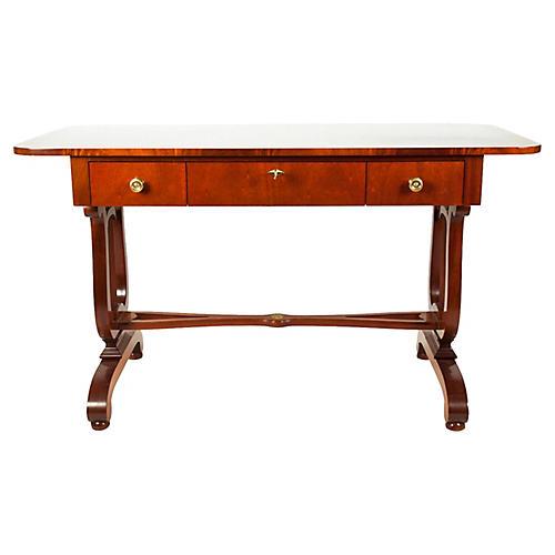 Mahogany Burl-Wood Desk