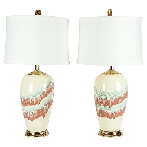 Porcelain Table Lamp, S/2