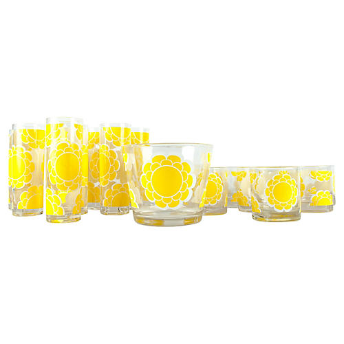 Barware Martini Glassware Set, 22-pcs