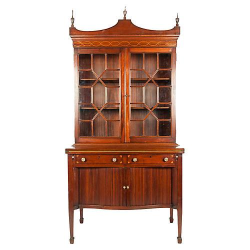 Charak Hand-Carved Mahogany Cabinet