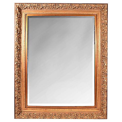 Beveled Giltwood Mirror