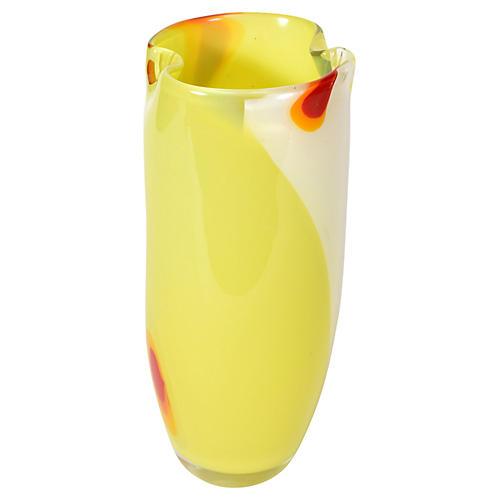 Midcentury Modern Murano Glass Vase