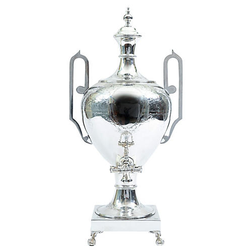 English Sheffield Plated Footed Samovar