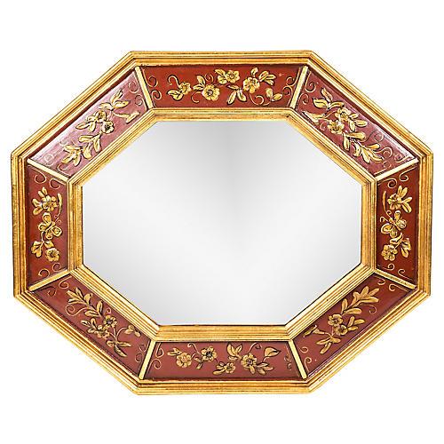 Mid 20th Century Wood Framed Wall Mirror