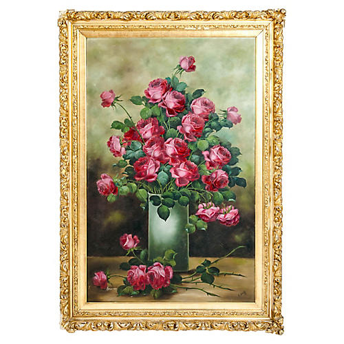Very Large Giltwood Frame Oil / Canvas P