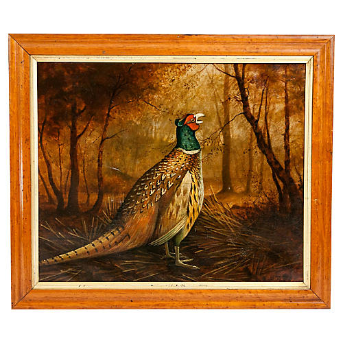 Late 19th Century Wood Frame Oil/ Canvas
