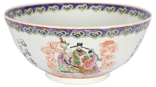 Multicolored Chinoiserie Bowl