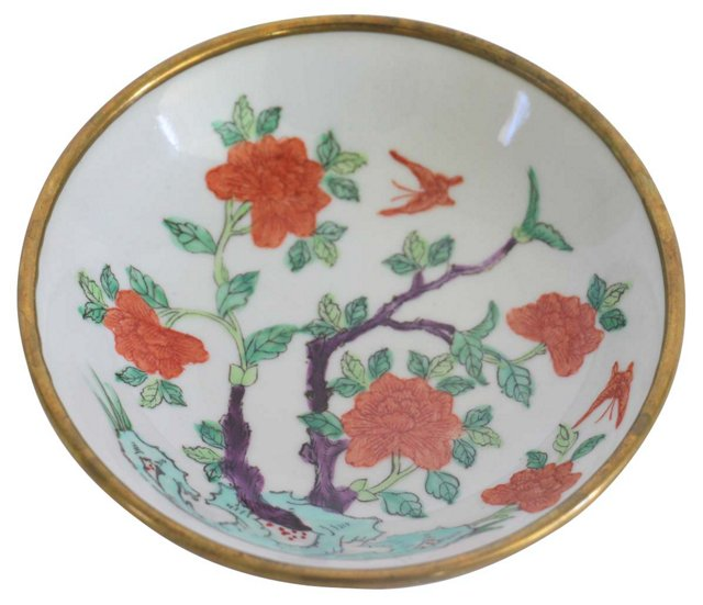Hand Painted Chinoiserie Dish