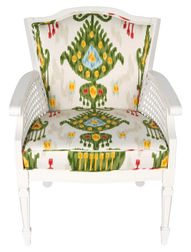 Multicolored Ikat Regency Chair