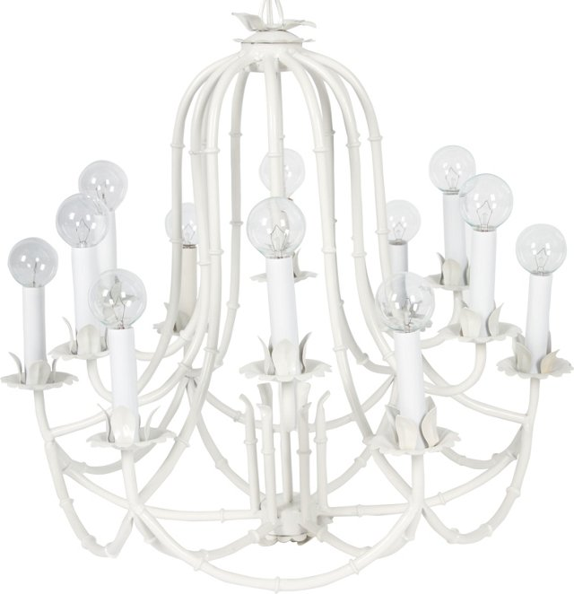 Bamboo-Style Chinoiserie Chandelier