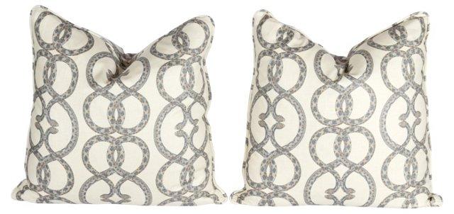 Snake Chain Pillows, Pair