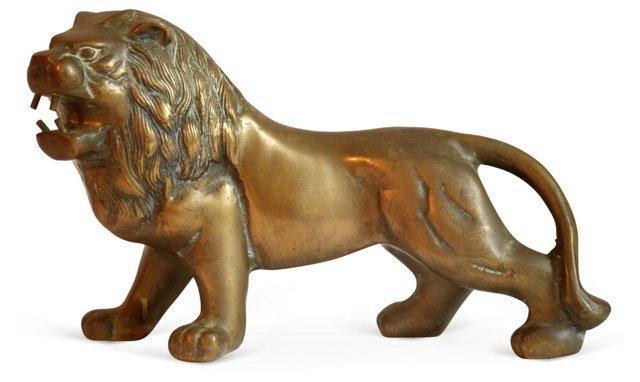 Brass   Lion Figurine