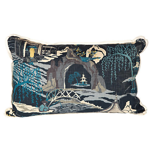 Navy Lumbar Pillow