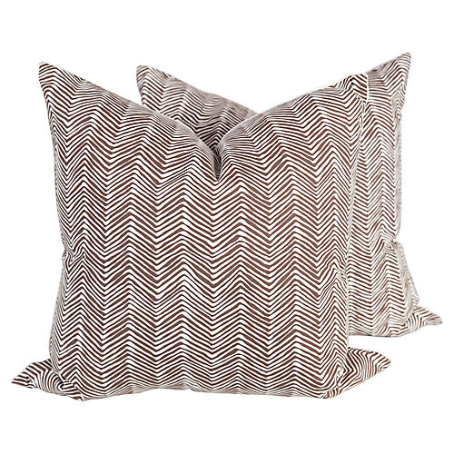 Zigzag Pillows by Alan Campbell, S/2