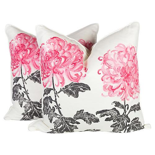 Tokyo Dahlia Pillows, Pair