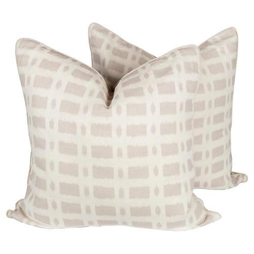 Schumacher Townline Road Pillows, Pair