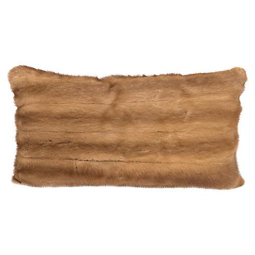 Caramel Mink Lumbar Pillow