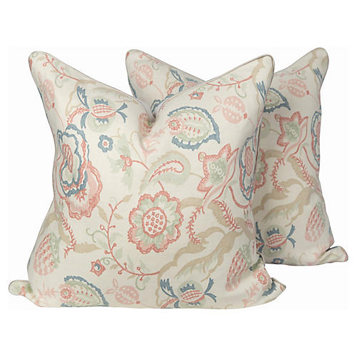 Linen Solana Petal Pillows, Pair