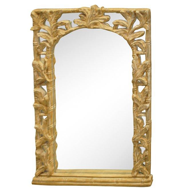 Serge Roche-Style Acanthus Mirror