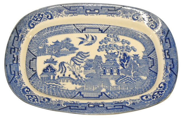 Blue Willow Pagoda Tray