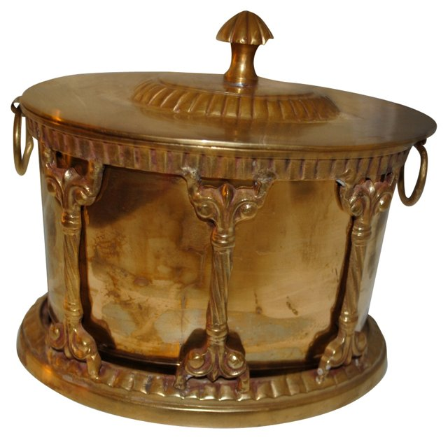Ornate Brass Tobacco Caddy