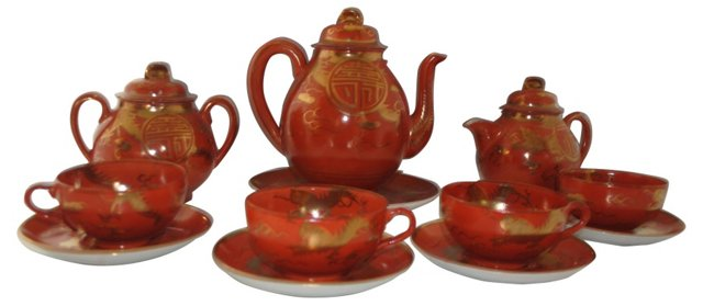 Chinese Dragon Tea Service, 12 Pcs
