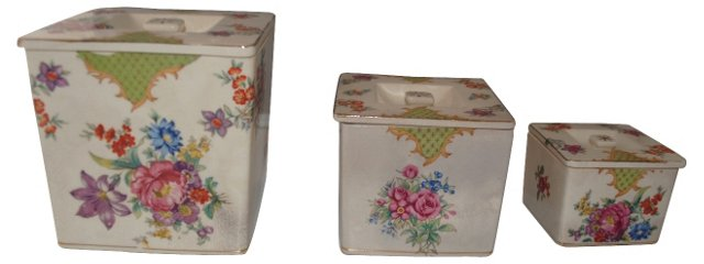 Hand-Painted Nesting Boxes, S/3