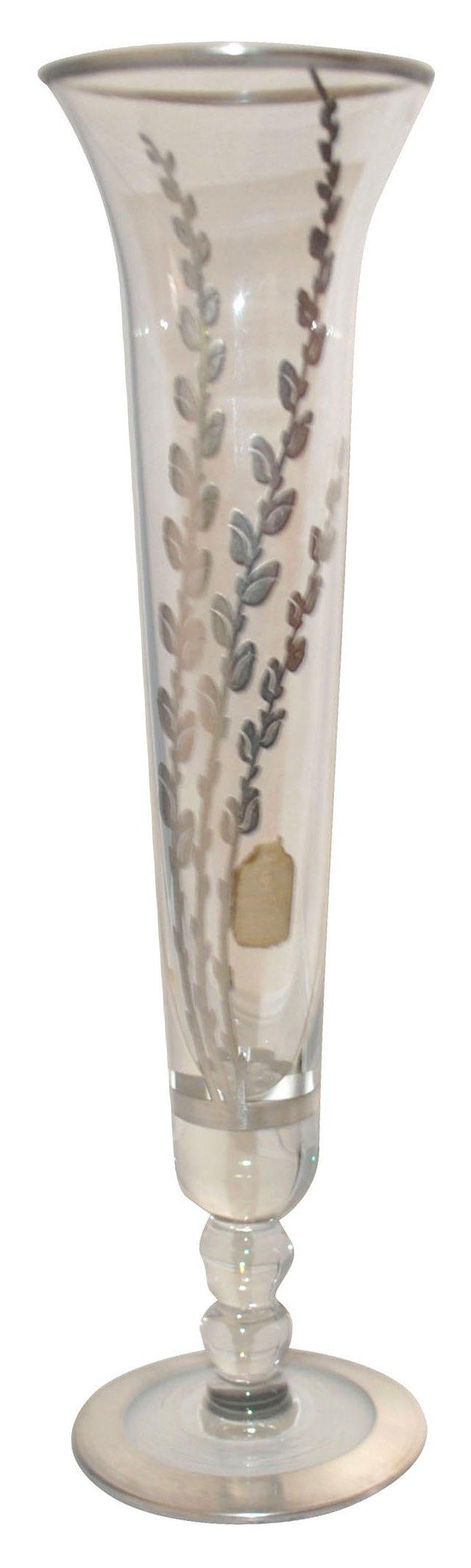 Crystal & Sterling Silver Vase